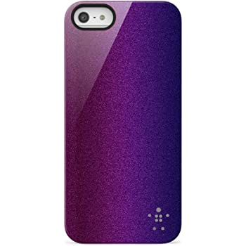 BELKIN ベルキン iPhone 5 用 Shield Color Shift 薄型ケース パープル F8W111qeC01