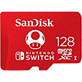 SanDisk SDSQXAO-128G-GNCZN Nintendo Official Licensed 128GB microSDXC UHS-I U3 (Up to 100MB/s Read, 90MB/s Write) Memory Card