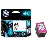 HP 65 Original Genuine   Ink Cartridge   Color   N9K01AA