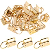 Swpeet 20Pcs Gold 1 Inch Key Fob Hardware with Key Rings Sets, Perfect for Bag Wristlets with Fabric/Ribbon/Webbing/Embossed