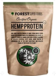 Forest Super Foods Certified Organic Hemp Protein Premium Quality 500g (60 day supply)