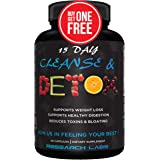 2 for 1 Deal Research Labs 15 Day Colon Cleanse & Detox for Weight Loss - Constipation Relief - Flushes Toxins, Boosts Energy