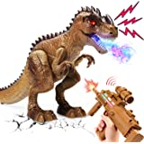 Cute Stone 恐竜おもちゃ リアル噴霧 ロボット玩具 おままごと射撃 室内ゲーム RCリモコン 恐竜フィギュア 自動走行 室内遊び 室内ゲーム 発声 発光 知育おもちゃ 恐竜遊び 動物モデル 男の子 誕生日ギフト 祝いプレゼント クリスマス