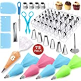 Cake Decorating Supplies 72 PCS Baking Set with Spring form Cake Pans Set, Cake Decorating Kit, Cake Rotating Turntable, Icin