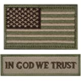 Tactical Morale Patch USA Flag Don't Tread On Me in God We Trust (Multitan(USA Flag+in GOD WE Trust))