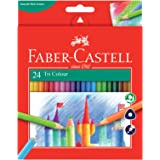 Faber-Castell PL115855 24-Pieces Triangular Colour Pencils,Assorted