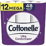 Cottonelle Ultra ComfortCare Toilet Paper, Beige,12 Mega Rolls Soft Bath Tissue (12 Mega Rolls = 48 Regular Rolls), 3408 Coun