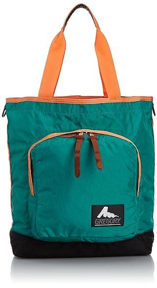 Bayside Tote: Emerald / Orange