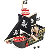Le Toy Van Barbarossa Pirate Ship Set Premium Wooden Toys for Kids Ages 3 Years & Up