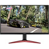 Acer Gaming Monitor 27 Inches KG271 Cbmidpx 1920 x 1080 144Hz Refresh Rate AMD FREESYNC Technology (Display Port, HDMI & DVI