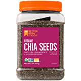 BetterBody Foods Organic Chia Seeds with Omega-3, Non-GMO (2 Pound)
