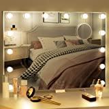 BESTOPE Vanity Mirror with Lights Hollywood Mirror Lighted Vanity Mirror for Bedroom,USB A and USB C Outlet with Phone Holder