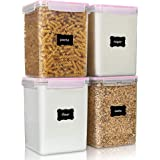 Large Food Storage Containers 5.2L / 176oz, Vtopmart 4 Pieces BPA Free Plastic Airtight Food Storage Containers for Flour, Su