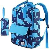 Dinosaur Backpacks Kids,VASCHY Lightweight Preschool Backpack Pencil Pouch Set for Children Toddler Boys and Girls w Chest St