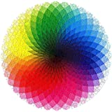 Meryi Gradient Color Rainbow Round Jigsaw Puzzles for Adults 1000 Piece - Adult Children Intellective Educational Toy DIY Col