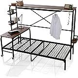 LOWYA ロウヤ ベッド 人をダメにするベッド ベッドフレーム シングル 宮棚付き ブラック/ウォルナット
