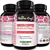 Pure Green Coffee Bean Extract and Standardized to 50% Chlorogenic Acid with Weight Loss Supplement for Men and Women, Burns