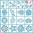 16 Pieces Flower Stencil Rose Sunflower Stencil Spring Summer Stencil Template Bird Leaf Drawing Template Reusable Painting S