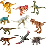 Jurassic World Camp Cretaceous Multipack with 10 Mini Dinosaur Action Figures, Realistic Sculpting & One or More Movable Arti