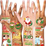 Konsait Christmas Tattoo for Kids Face Hands Tattoos Christmas Stocking Filler Stuffers Xmas Gifts Waterproof Holiday Tempora