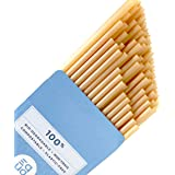 EQUO Sugarcane Drinking Straws, Biodegradable, Compostable, and Plastic-Free, Pack of 50, Cocktail