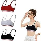 Cotton Bralettes for Women Sleeping Bras for Women Supportive Unlined Bra Set - 3 Packs