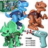 Dinosaur Toys for 3 4 5 6 7 Year Old Boys, Take Apart Dinosaur Toys for Kids 3-5 5-7 STEM Construction Building Kids Toys wit