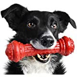 Pet Qwerks Bongo BarkBone Prime Rib Chew Toy - Tough Indestructible Extreme Power Chewer Bone, Designed for the Most Aggressi
