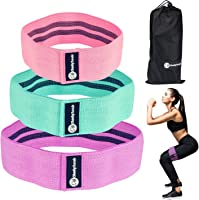 Cheeky Bands Resistance Booty Band Set, 3 Non-Slip Fabric Loop Resistance Bands, Elastic Slingshot Material Exercise...