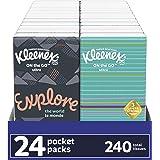 Kleenex On-The-Go Packs Facial Tissues, 72 Travel Packs (3 Packs of 24), 10 Tissues per Pack (720 Total Tissues)