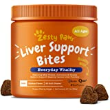 Zesty Paws Liver & Kidney Support Supplement for Dogs - with Milk Thistle Extract, Turmeric Curcumin, Cranberry & Choline - N