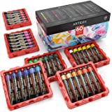 ARTEZA Acrylic Paint, Set of 60 Colors/Tubes (22 Ml, 0.74 Oz.) Art Supplies Paint Set, Rich Pigments, Non Fading, Non Toxic P