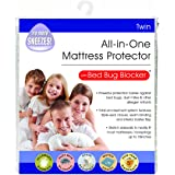 Bed Bug Blocker Non-Woven Zip Mattress Protector, Polyurethane, White, Twin
