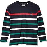 ORIGINAL PENGUIN Men's Long Sleeve Stripe Tee, Dark Sapphire Breton, XXL