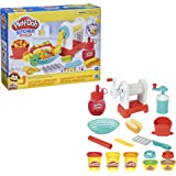 Play-Doh Kitchen Creations Spiral Fries Playset for Children 3 Years and Up with Toy French Fry Maker, Play-Doh Drizzle and 5