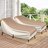 Porch Shield Patio Chaise Lounge Chair Cover - Waterproof Outdoor Pool Chair Cover 68x30 inch, Set of 2