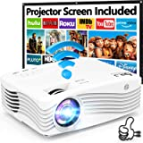 7500Lumens Upgraded Native 1080P Projector, Full HD WiFi Projector Synchronize Smartphone Screen, Compatible with TV Stick/HD