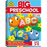 School Zone - Big Preschool Workbook - Ages 3-5, Colors, Shapes, Numbers 1-10, Alphabet, Pre-Writing, Pre-Reading, Phonics, a