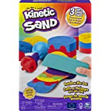 Kinetic Sand, Rainbow Mix Set with 3 Colors of Kinetic Sand (13.5oz) and 6 Tools, Play Sand Sensory Toys for Kids Ages 3 and