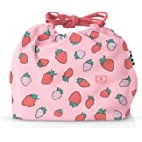 monbento - MB Pochette Graphic Strawberry Bento Lunch Bag - Polyester Lunch Tote - Suitable for MB Original MB Square & MB Tr