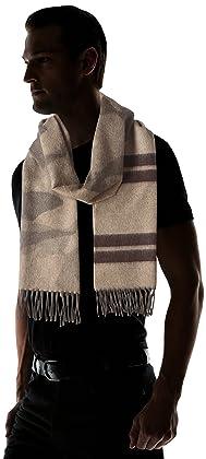 Wool Angora Camouflage Stripe Scarf 118-35-0211: Olive