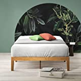 Zinus Moiz Queen Bed Frame Superior Timber Base Mattress - Solid Wooden Pine Wood Furniture   5 Years Warranty