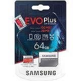 Samsung Evo Plus 64GB MicroSD XC Class 10 UHS-1 Mobile Memory Card for Samsung Galaxy J3 J1 Nxt Ace A9 A7 A5 A3 Tab A 7.0 E 8