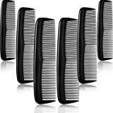 Colorful Hair Combs Set, Hair Combs Set, Hair Combs for Women and Men, Colorful Coarse, Fine Dressing Comb (12 Pieces, Black)