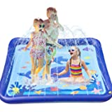 "TEPSMIGO Splash Pad for Kids Outdoor 68"" Sprinkler Mat Water Toys, Inflatable Kiddie Pool Boys Girls Yard Toys for Outside Ac"