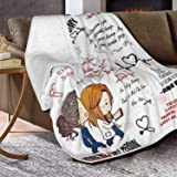 Sufei Greys Anatomy Blanket Super Soft Warm Solid Blanket Sofa Bedding Blanket Flannel Bed Sofa and Living Room for Kids Adul