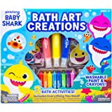 Baby Shark Bath Art Creations by Horizon Group Usa, Draw Fun & Exciting Washable Artwork During Bath Time. Dissolvable & Wash