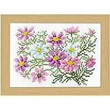 オリムパス製絲 刺しゅうキット 12ヶ月の花フレーム マリー・カトリーヌコレクション クロスステッチキット 9月コスモス 7516