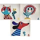 Trendy Tripper Swedish Dishcloths/Sponge Cloth - Helen Dardik Designs - Dog or Cat or Owl or Pack of 3 with 1 of Each Dog/Cat