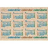 エトランジェディコスタリカ 2021年 カレンダー 壁掛け ポスター B4 ナチュラル 2021年 4月始まり 0104-CLP43-B4-03